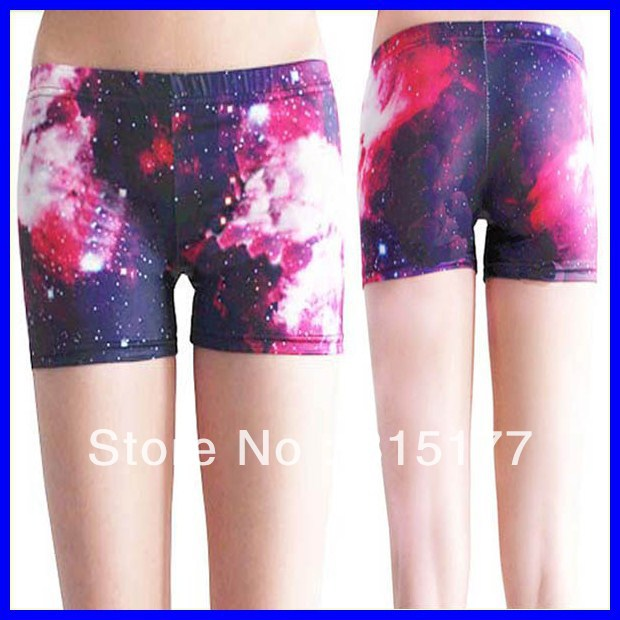 Free shipping Glittering Starry Sky Short Legging wholesale 10pieces/lot Mix order Tight high Shorts 2013 Women sexy pants 79145