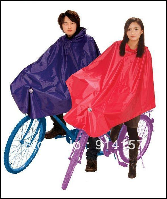 Free shipping! Globalsources double faced adhesive poncho rain gear broadened oversize bicycle raincoat