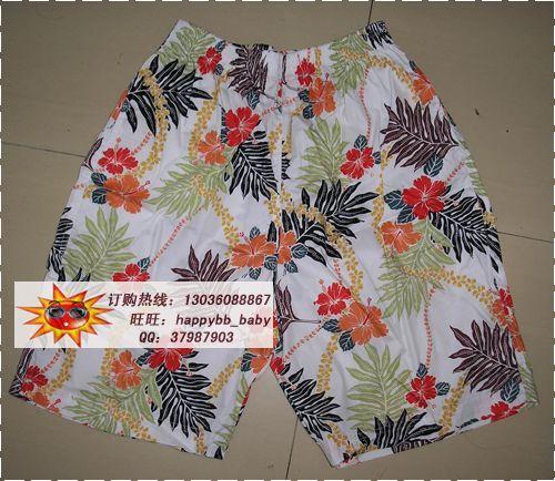 Free shipping Hainan shirt hainan island service male Women lovers  casual shorts cotton 0717 100%