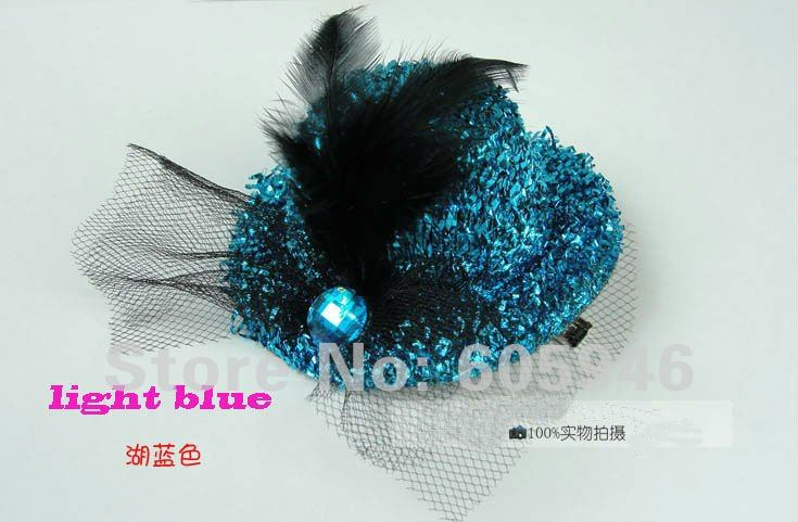 Free shipping hair cap clip.hair decorations, feather  headdress flower Royalty wedding party gift hats wholesale  120piece/lot