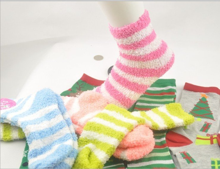 Free Shipping!!!Half of the wool lovely socks,adult 6pair/lot  towel ring thickening to keep warm socks women