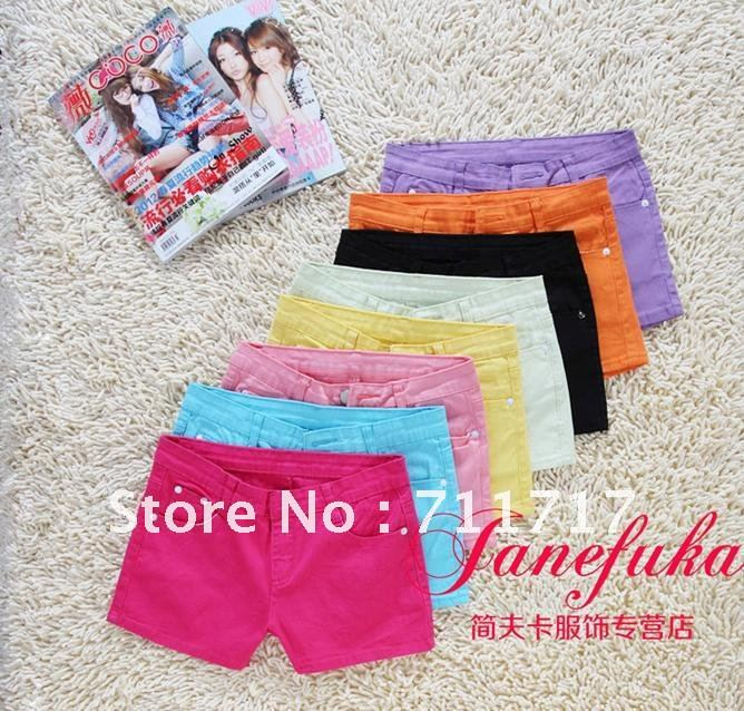 Free shipping Han edition big yards bull-puncher knickers female summer candy color color shorts hot pants