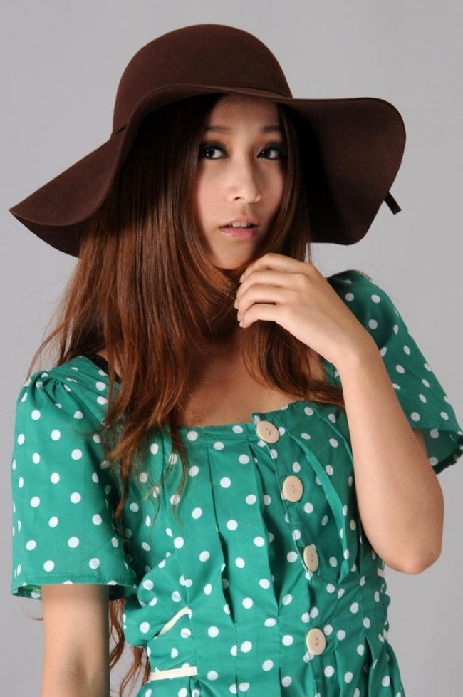 free shipping  high grade wool floppy hat Hepburn style felt hat fashion hat