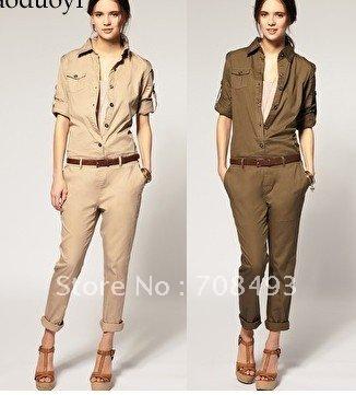 Free shipping high quality fashion cotton trousers /  fashion Jumpsuits /  summer Jumpsuits / Jumpsuits women /  Jumpsuits 2012