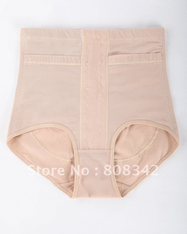 Free shipping High Quality Khaki Control Panties Lady Waist Cincher Intimate Slimming Lingerie High Waist Shaper Underwear 12042