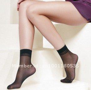 Free Shipping  High Quality Ladies Velvet Silk Socks Core Spun Spandex Socks Woman Lady Socks