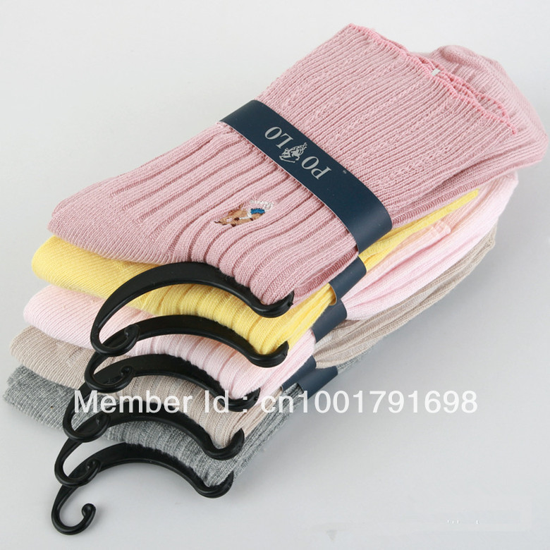Free Shipping Hot Fashion Cotton Socks Women Hight Quality POLO Socks Wholesale 10Pairs/Lot