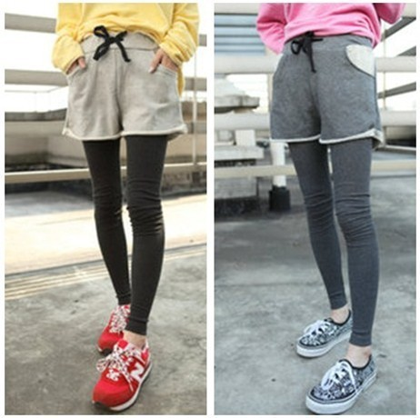 Free shipping hot sale 2012 new arrival casual autumn winter solid color women lady shorts s1072
