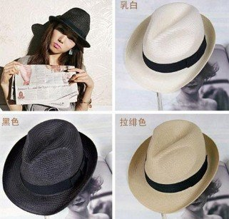 Free Shipping Hot Sale Fashion Women&Men Beach Hats/Top Hat/ Jazz Cap/ Straw Hat,Wholesale/Retail