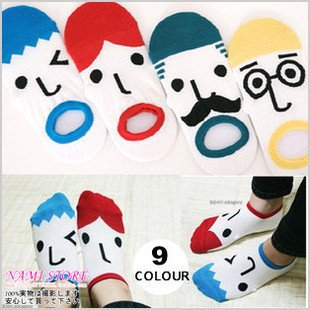 free shipping hot sale high quality 12pcs/lot weekly socks ladies' socks men's socks expression short socks men/women low price