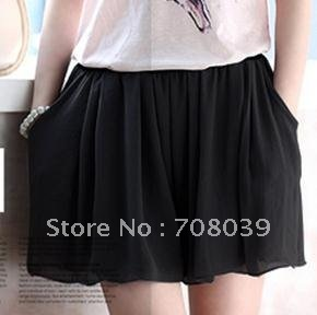 Free shipping Hot sale Lady's Shorts chiffon skirt pants female high waist shorts loose shorts plus size /  fashion shorts