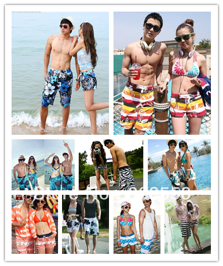 Free shipping hot sales fashion lovers beach shorts couple men/women beach style pants wholesale or retail in stock