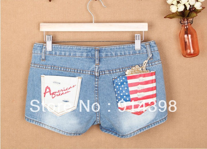 Free shipping hot sell rinse old color jeans shorts online high quality cheap short shorts 013