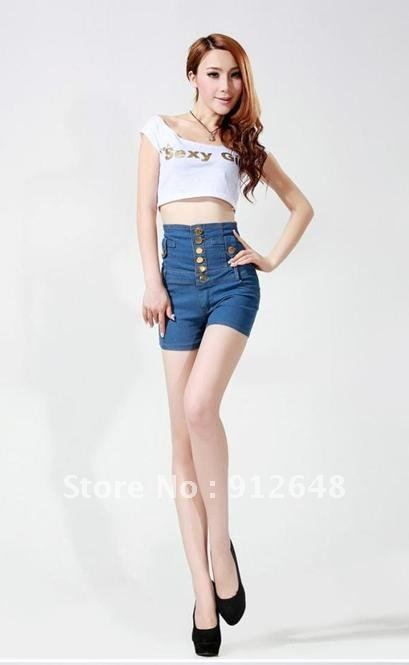 free  shipping    In the summer of 2012 new high waist and restoring ancient ways bull-puncher knickers female trousers