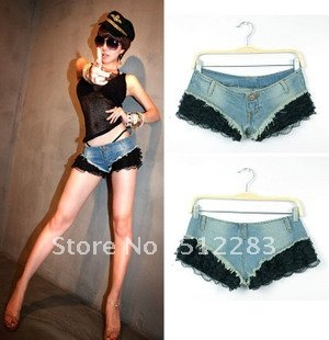 Free shipping jeans shorts women 2012 new sexy tease babes super hipster jeans shorts shorts
