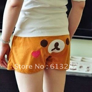 Free Shipping Kawaii Rilakkuma Bear Shorts Beach Pants,Home Shorts, Pajama Pants Cartoon,Casual Shorts Retail
