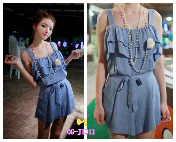 free shipping Korean style  2012 new hot popular cute pockets Jumpsuit  short , picture color free size