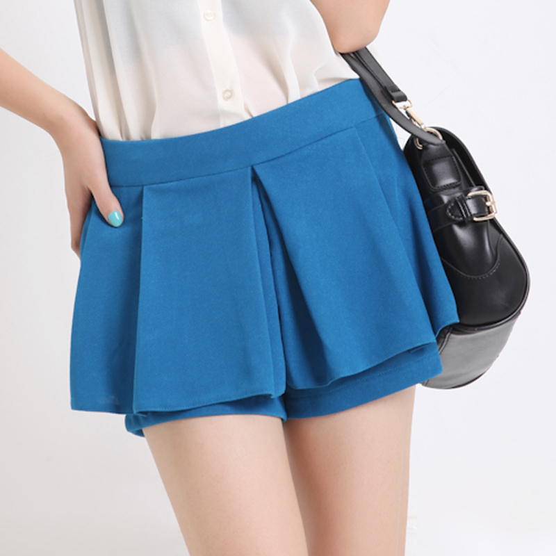Free Shipping Korean Style Fashion Spring 2013 New In Thin Women's Shorts Solid Color All Match Female Short Pantskirts