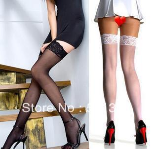 FREE SHIPPING lace decoration slip-resistant silica gel sexy slim socks stockings