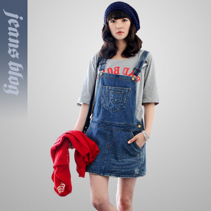 Free Shipping Ladies Fashion overalls jumpsuit  Denim Jeans  New Stock  9411