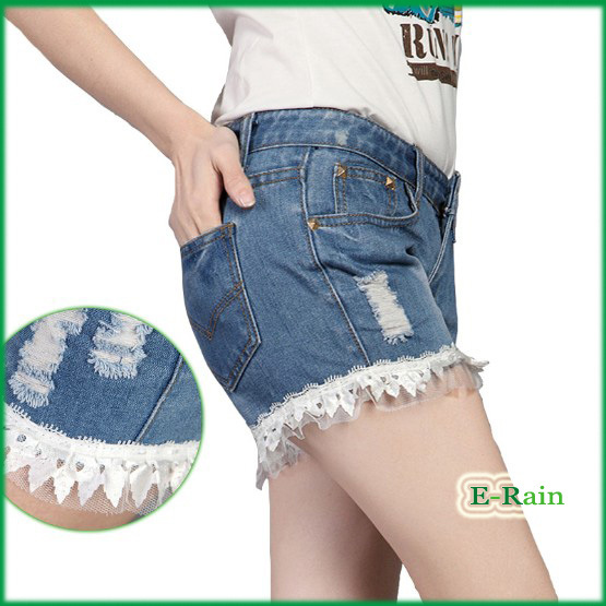 Free Shipping Lady Denim Shorts Women's Jeans Shorts  Ladies' Short Pants