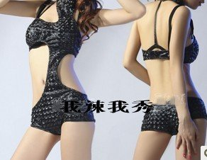 Free shipping/lady gaga star with paragraph singer of stage costumes ds lead dancer clothing clothes