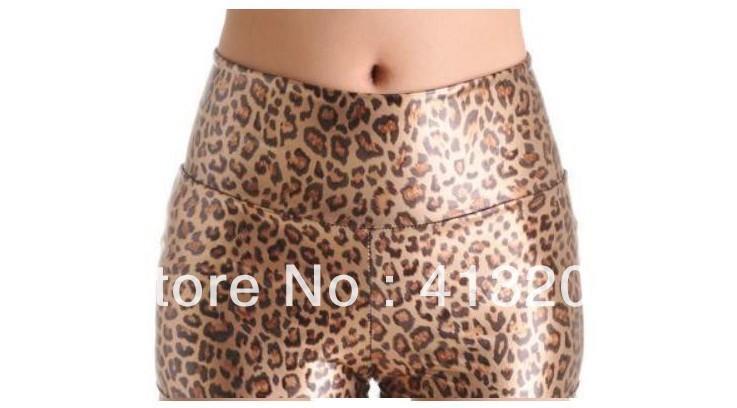 Free shipping Large size mini leather ladies' hot pants fashion Leopard women's short shorts cool dresses clothing wholesale