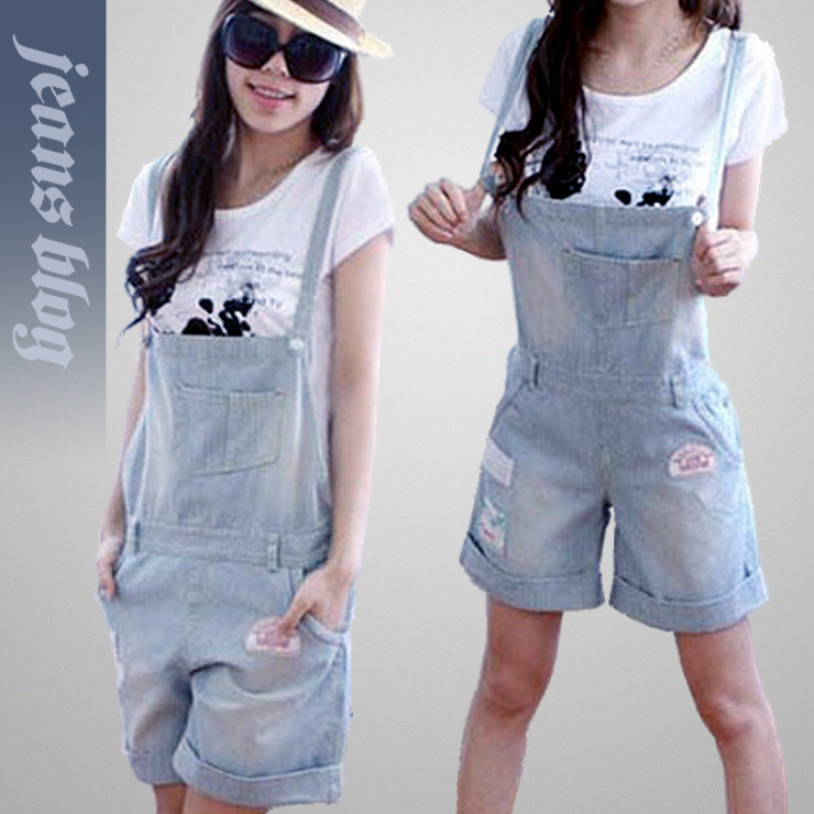 Free Shipping  Leisure Ladies Fashion  Denim Jeans  Rompers Light Color  New Stock Jeans  9996