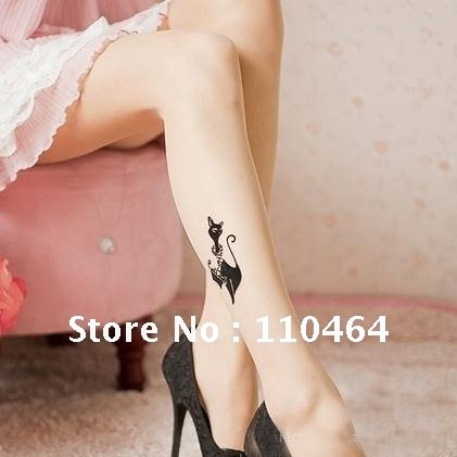 free shipping lovely cat ladies' stockings sexy thin leg stockings summer collection