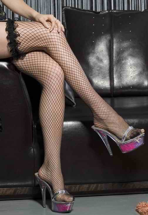 Free shipping + Lowest price New Sexy Lace Fishnet Stocking  (Red / white / Black)