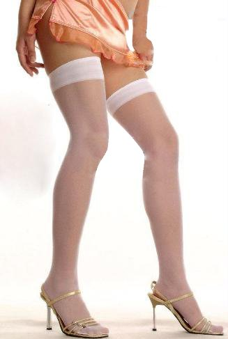 Free shipping + Lowest price New Sexy White Sheer Stretch Stockings