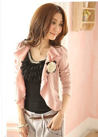 free shipping  manufacturers supplyWave cardigan jacket ladies coat Women's Suit women's clothing(MOQ: 1pc)#6307