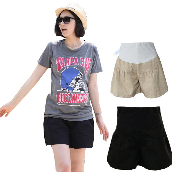 Free shipping Maternity belly pants maternity shorts 100% cotton maternity pants summer 2