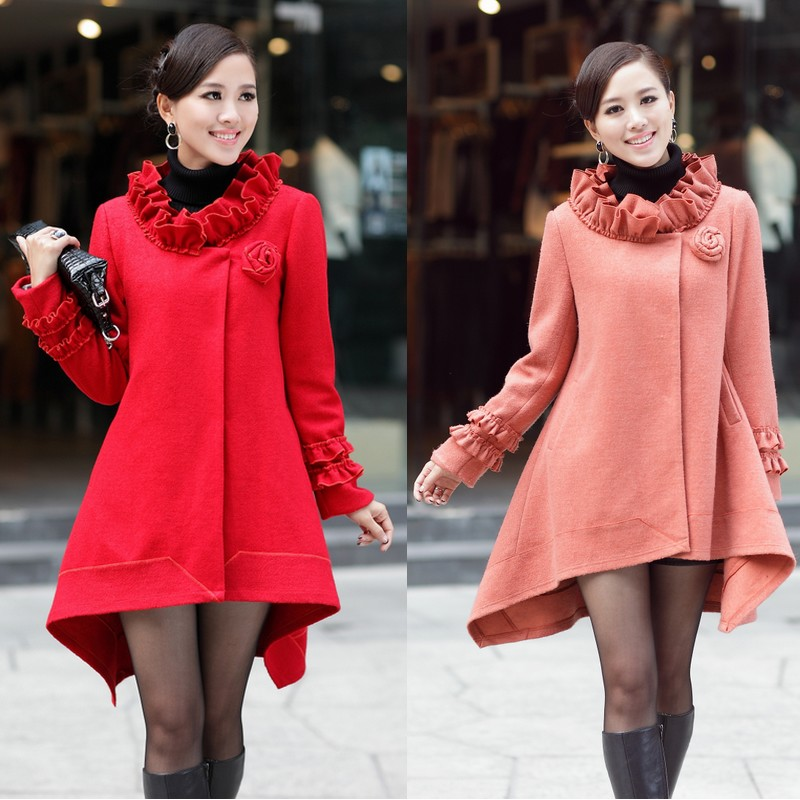 Free Shipping Maternity clothing maternity mantle type wool coat plus size maternity woolen outerwear top trench