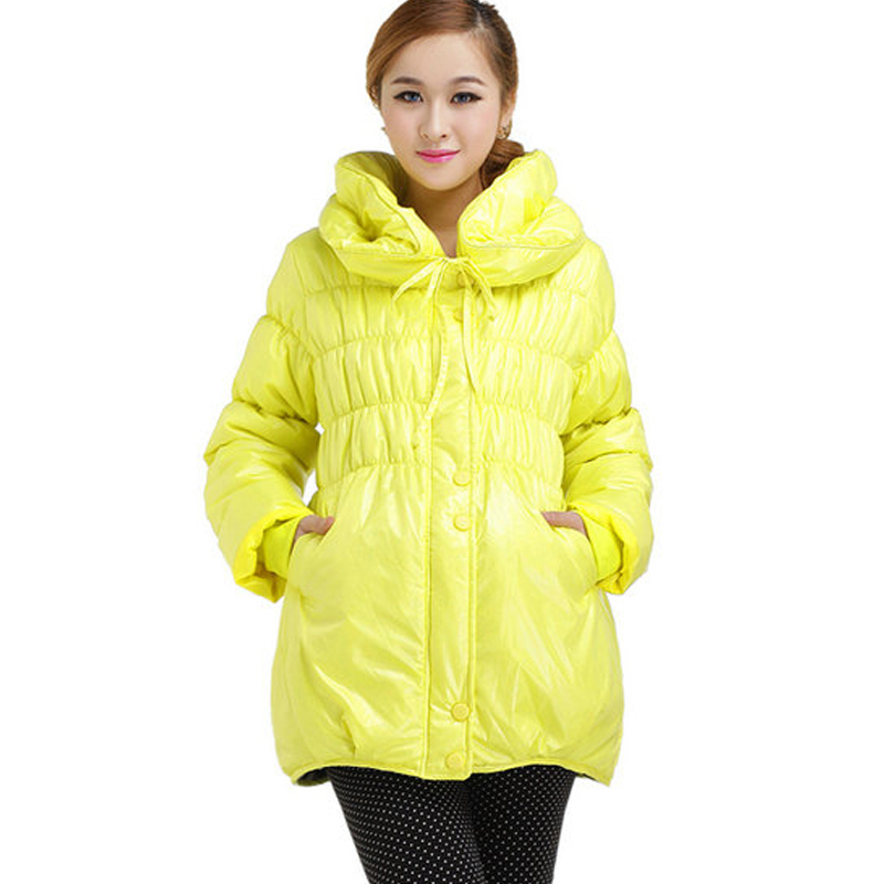 Free Shipping Maternity clothing winter fashion bubble collar maternity thermal wadded jacket cotton-padded jacket outerwear