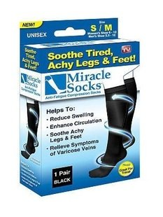 Free shipping miracle socks anti-fatigue compression socks for man&woman achy les and feet