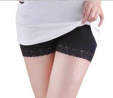 Free Shipping, Modal Sexy Lace Brim Leggings Safety Shorts/ Hot Pants Panties, 3 colors