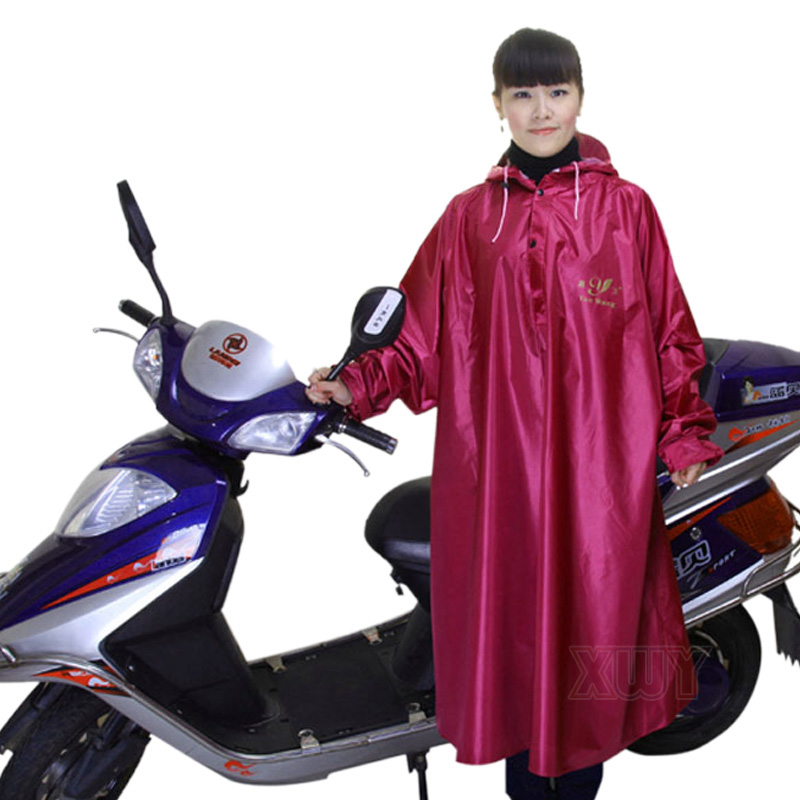 Free Shipping Motorcycle electric bicycle raincoat fashion raincoat with sleeves thickening ride poncho