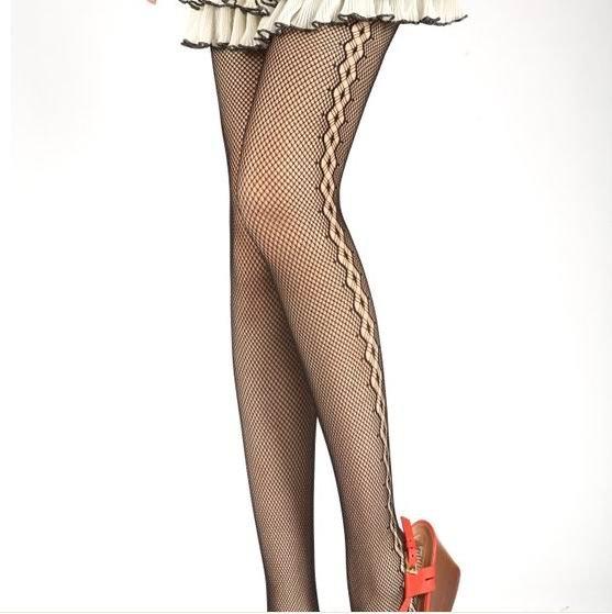 free shipping Ms. small black mesh pantyhose sexy to repair legs close socks