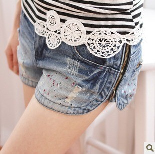 free shipping mushroom street  new women's jeans hot shorts factory price wholesale,free shipping