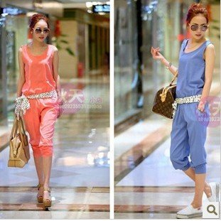 Free Shipping! New Arrival Fashion Branded Women's Elegant Jumpsuits,Sleeveless Overall Casual Jumpsuits,Pants Rompers