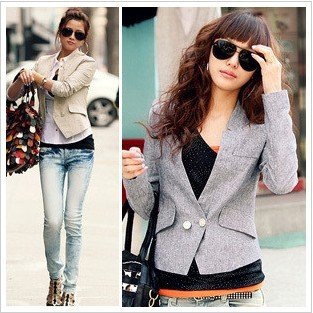 Free shipping,New Arrival,Graceful Ladies One Button Stand Collar Suit Jacket,Women Leisure Coat#0106