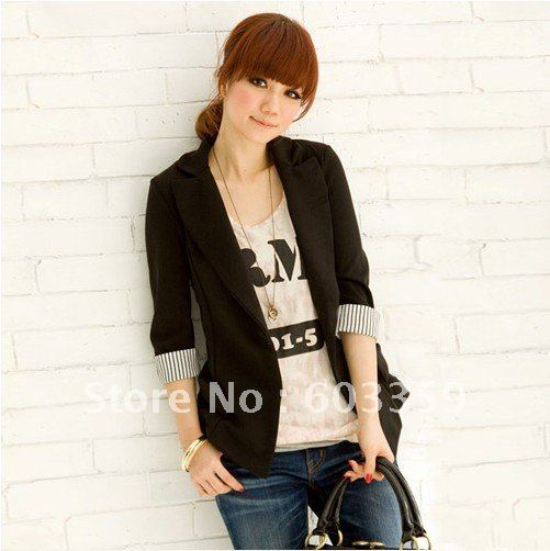 Free shipping,New Arrival,Ladies OL Chic Suit Jacket,Formal Black Suit Blazer#4000