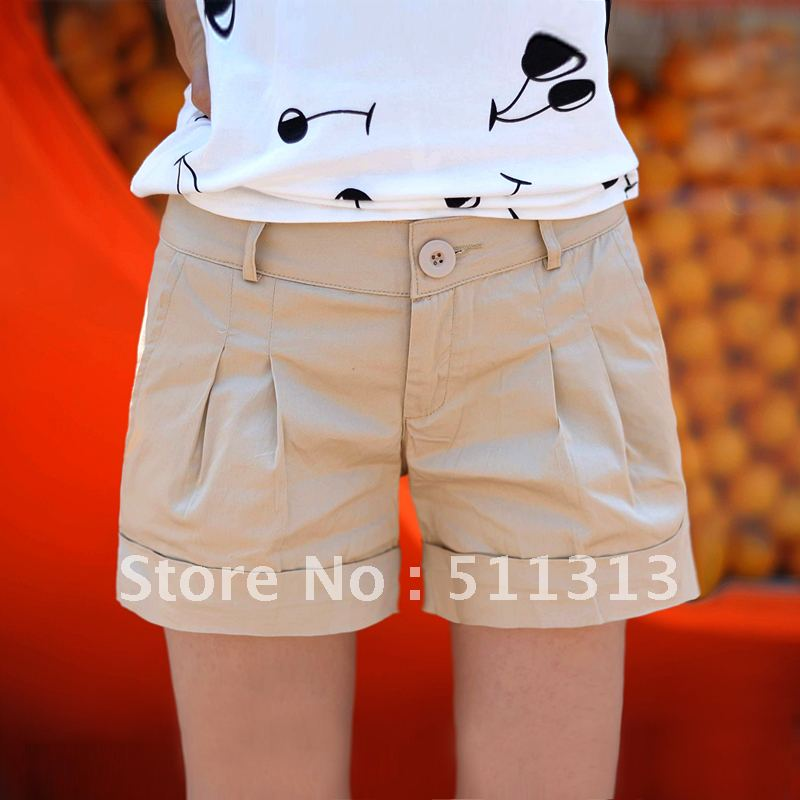 FREE SHIPPING new arrival pure cotton fashion overalls hot pants large size shorts