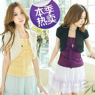 Free shipping New Arrive Women's Crochet Knit Shrug Cardigan Colorful Wholesale 1Pcs/Lot
