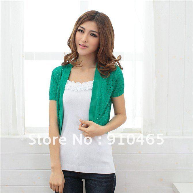 Free shipping New Arrive Women's Crochet Knit Shrug Cardigan jacket Colorful Wholesale 1Pcs/Lot