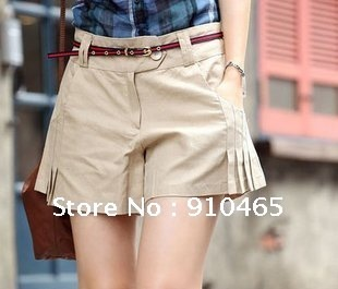 Free Shipping New arrivel Best Selling Women's Pencil short Pant+belt Culottes Hot Sale Wholesale 1Pcs/Lot
