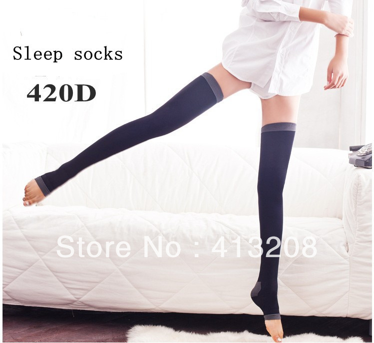 Free Shipping new Brands Anti-varicose veins slim ladies' sleep socks leggings Modeling Long Legs women's stockings wholesale