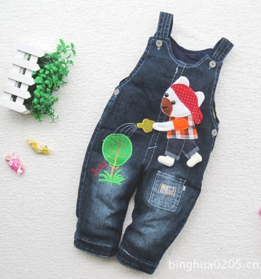 Free shipping new children's wear spring children jeans overalls children's pants