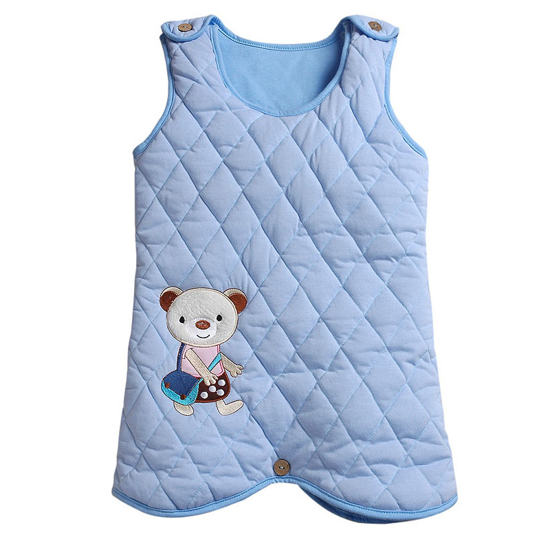 Free Shipping  New Fashion Autumn and winter baby cartoon style sleeping bag with Protect baby belly at night thicker S1203#